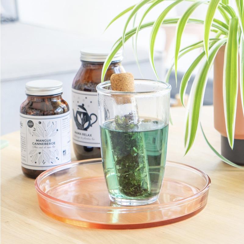 Infusion bio infuseur en verre GreenMa