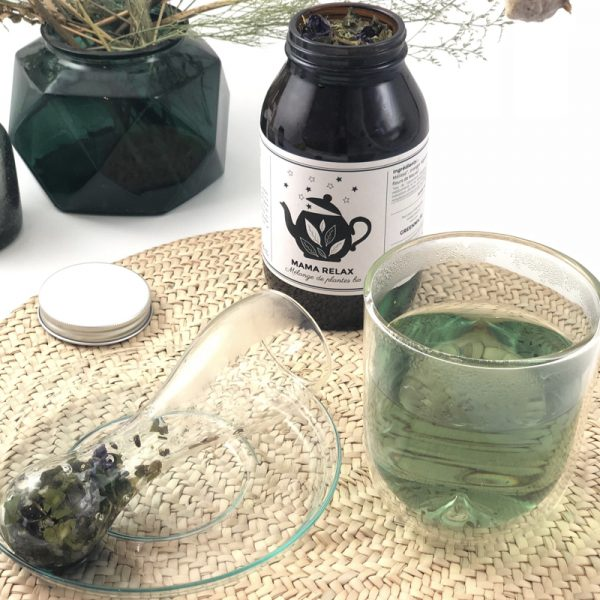 Infuseur verre perforé infusion GreenMa bio mama relax