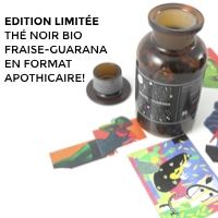 the noir bio gourmand fraise guarana bocal verre apothicaire